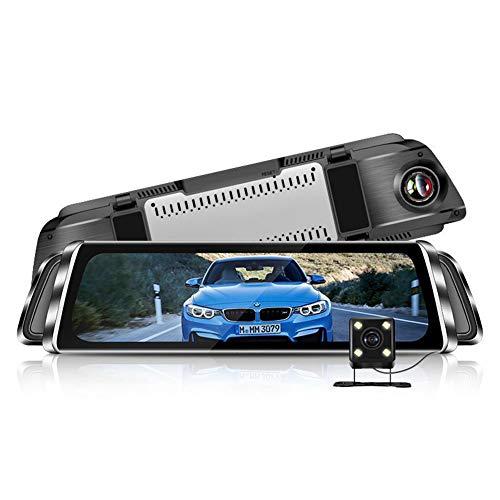 10 Zoll Full Screen 1080P Full Hd Touchscreen Dual Lens Weitwinkel 170 ° Front und 140 ° wasserdichte Rückfahrkamera Low Light Nachtsichtfahr-Recorder - Dual Lens Hd Light