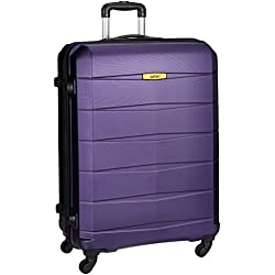 Safari Polycarbonate 77 cms Purple Hard Sided Suitcase (REGLOSS ANTISCRATCH 4W 77 Purple)