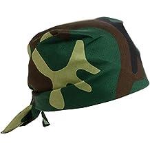 Foulard in cotone multi funzioni bandana cappellino per cuochi cotone cm 60  x 60 colore MIMETICO 3b8271fe7025