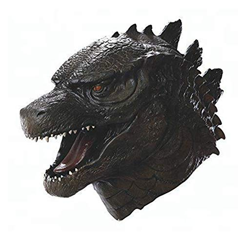 osaurier Gesichtsmaske Halloween Monster Film Cosplay Kostümparty Latex Drachentier Perücke Overhead Kostüm Maske Spielzeug Erwachsene (Dinosaur Maske B) ()