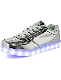 (Present:kleines Handtuch)Schwarz EU 38, JUNGLEST® Paar USB Top Schuh Turnschuh Blink Lade Männer mode LED H
