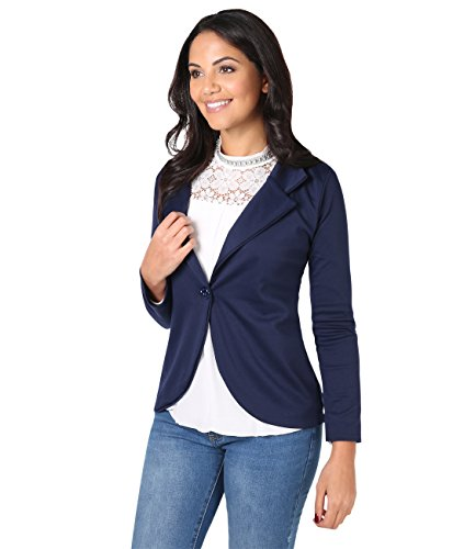 KRISP Smart Casual Stoff Fashion Blazer (Marineblau, Gr.44) (3558-NVY-16)