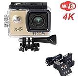 ZIHENGUO SJ4000 WiFi Action-Kamera 2,0-Zoll-LCD-Bildschirm 1080P HD Tauchen 30M Wasserdichte Mini-Camcorder-Sport-DV-Antenne-Camcorder-Fahrrecorder,Gold