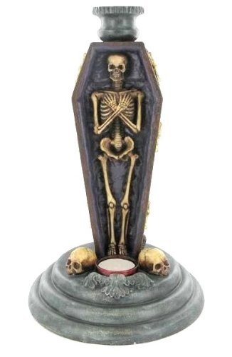 Afterlife Vigil Candlestick and T-Light Holder Gothic Horror by Alchemy Gothic