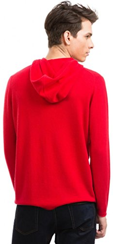 Hoodie Herren (Reißverschluss) - 100% Kaschmir - von Citizen Cashmere Rot