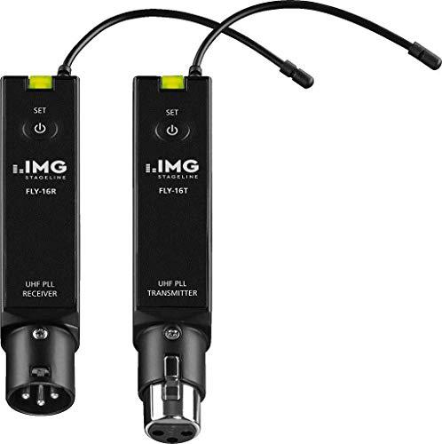 IMG STAGELINE FLY-16SET 16-Kanal-PA-Audio-Funk-Übertragungsset in UHF-PLL-Technologie, schwarz