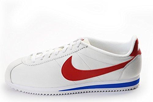 Nike Herren Classic Cortez Prem Laufschuhe, Weiß/Rot/Blau (White/Varsity Red-Vrsty Royal), 45 EU (Weiß Air Max 2014 Nike Herren)