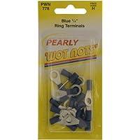 Pearl Pwn778Connecteurs de câble à bague 1/10,2cm–Bleu (lot de 25)