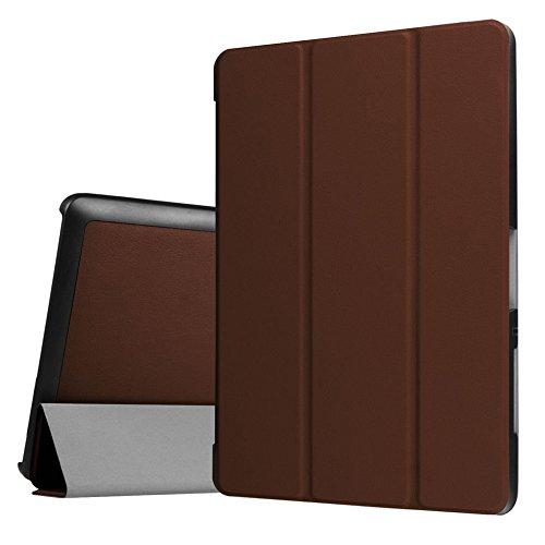 WiTa-Store Hülle für Acer Iconia One Tab 10 B3-A30 B3-A32 A3-A40 10.1 Zoll Schutzhülle Etui Tablet Tasche Smart Cover (Braun)