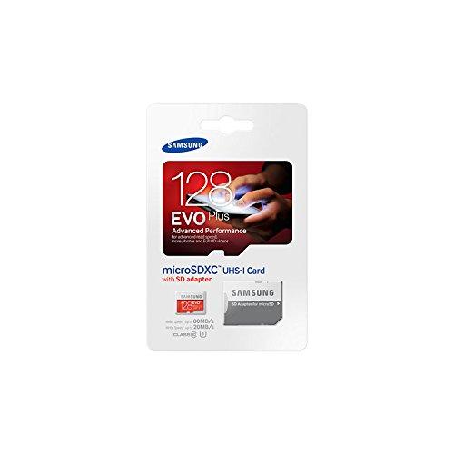 Samsung Speicherkarte MicroSDXC 128GB EVO Plus UHS-I Grade 1 Class 10, für Smartphones und Tablets, mit SD Adapter