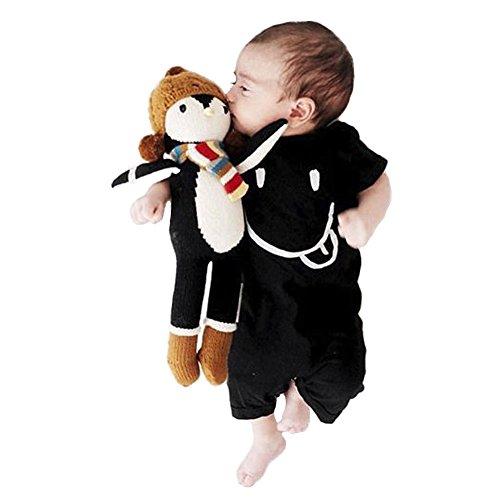 Onesie Kurzarm Baby IHRKleid® Baby Niedlich Cartoon Kaninchen Overall Bodysuit Strampler (100, 24-36 Monat, Schwarz#)