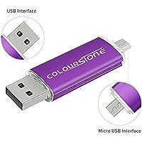 OTGMemoria USB 2.0, Colourstone 32GB Pendrive del Puerto Dual Compatible con Samsung Huawei Smartphones y Tablets Memoria Externa, Morado