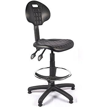 Bude Polyurethane Draughtsman Chair, Wipe Clean, PU High Chair, Lab Chair,  Industrial