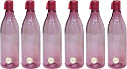 Harshpet Red 1 LTR Water Bottle Fridge Bottle Set of 6