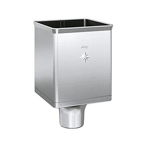 Grömo Zink Design-Wasserfangkasten für Fallrohr DN 100