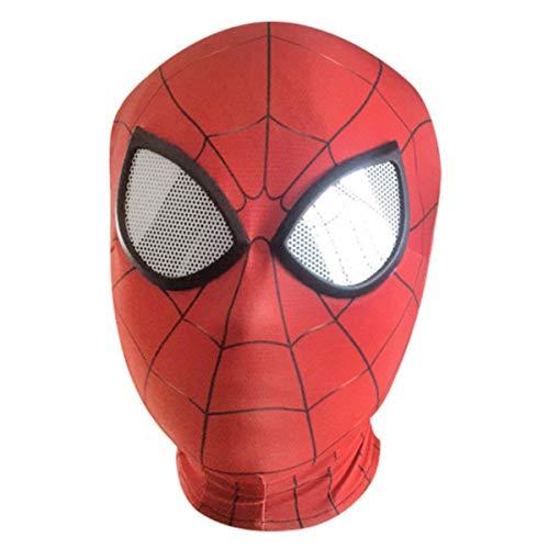 XWQXX Spider-Man Gesichtsmaske Halloween Kostüm Party Tuch Party Maske Kapuze für Rollenspiel Kostüm A One Size Mask,E-OneSize