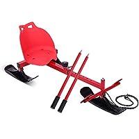 LEYOUDIAN Huaxueban Deslizante Tesoro de esquí Trineo de Hielo Patinaje Silla de Coche versión Infantil Adulto Invierno Patinaje Sobre Hielo al Aire Libre Entretenimiento (Color : Red)