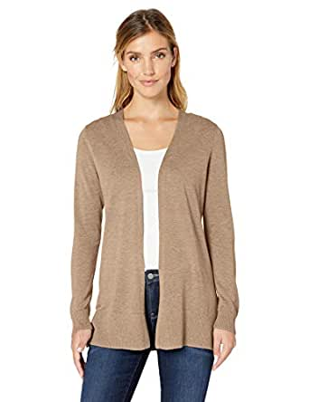 Amazon Essentials Open-Front Cardigan Strickjacke Beige (Camel Heather Cam) Medium