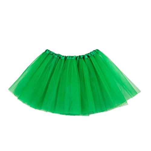 Tinksky Kinder Tutu Rock 3 Schichten Weihnachten Tutu Petticoat für Mädchen Ballett Dress Up Prinzessin Party Kostüm Favor St.Patrick's Day Party ()