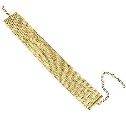 #1307 Women Jewelry Gold Mesh Stunning Standout Choker