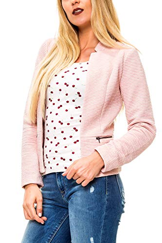 ONLY Damen Sweat Blazer Anzugjacke (42 (Herstellergröße: 42), Rose Smoke)