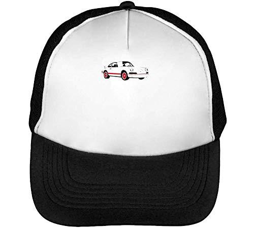 Preisvergleich Produktbild Race Car Trucker Cap Herren Damen Schwarz Weiß Snapback