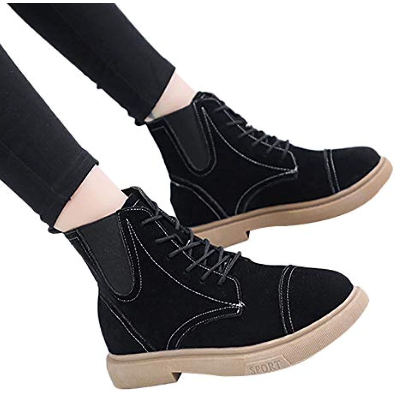Weant Chaussures Femme Bottes Bottines Femme Botte Nouvelle Botte Femme de Ceinture à glissière latérale à Hauteur de Coupe... - B07H6ZNN4P - e92985