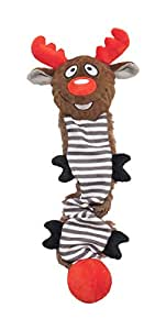 Rosewood Reindeer Squeaky Stretch a Lot Dog Toy
