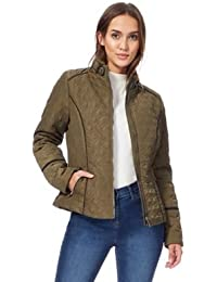 The Collection Womens Khaki Quilted Jacket