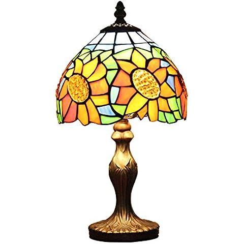 8 Pollici Semplice Moderna Di Lusso Di Girasole Stile Tiffany Lampada Da Tavolo Lampada Da Comodino Desk Lamp