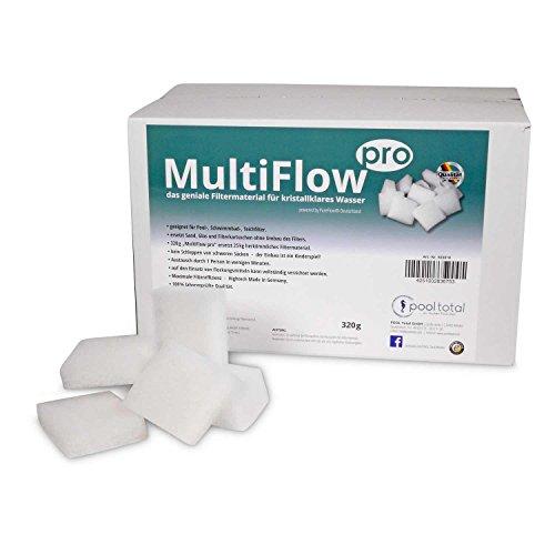 POOL Total MultiFlow pro 320g - Made in Germany - ersetzt Sand-, Glas- und Filterkartuschen ohne Umbau der Filteranlage