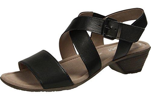Gabor Fashion, Sandales Bout Ouvert Femme Noir