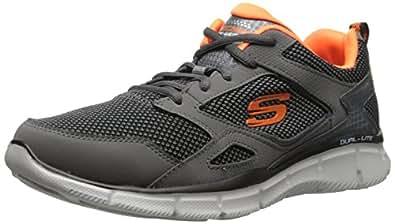 Skechers - Equalizer- Game Point - Sneaker, homme EU 39 gris (CHAR)