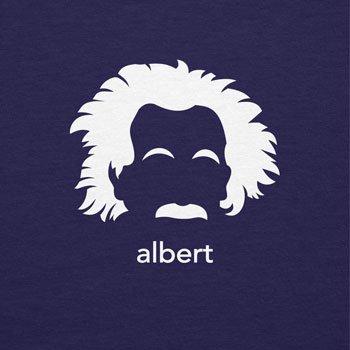 NERDO - Albert - Herren Langarm T-Shirt Navy