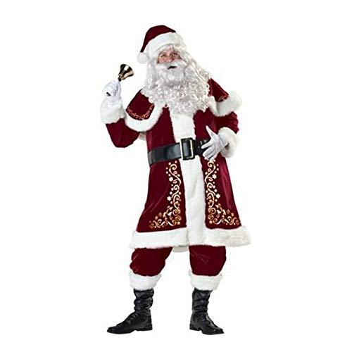 Shisky Weihnachtskostüme,Luxus Santa Claus Kostüm Set Weihnachten -