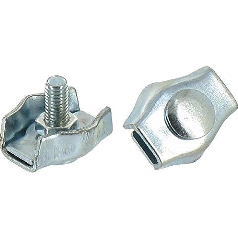 Serre-câble plat à 1 boulon - Diamètre Cable 2 mm - Vendu par 10