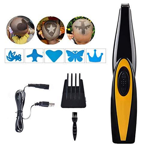 Professionelle Haarschneidemaschinen für Männer Frau, Muster Gravur Haarschneider USB wiederaufladbare elektrische Bartschneider Pflege perfektes Geschenk mit Gravur gravierte Schrift Modell Muster