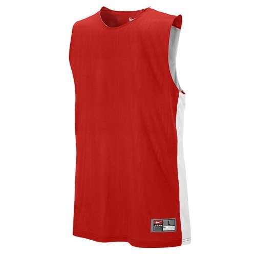 Nike Tank Top Singlet M League Rev Practice Scarlet/TM White, M
