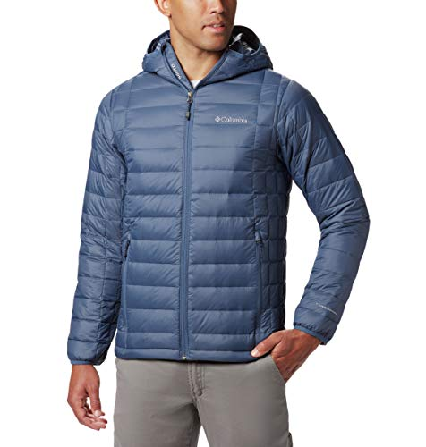 Columbia Herren Voodoo Falls 590 Turbodaunenjacke, Thermo-Reflektierende Wärme, Herren, Voodoo FallsTM 590 TurboDownTM Hooded Jacket, Dark Mountain, Medium