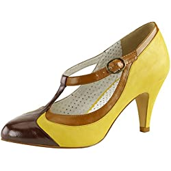 Pumps Peach-03 Gelb, EU 38