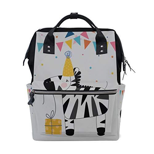Zebra Cartoon Wald Tier Große Kapazität Windel Taschen Mummy Rucksack Multi Funktionen Wickeltasche Tasche Handtasche Für Kinder Babypflege Reise Täglichen Frauen