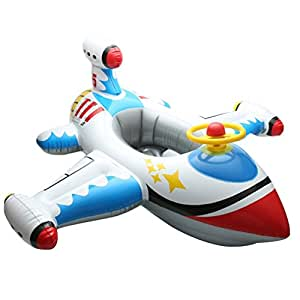 Aideal inflatable funny airplane baby kids swimming float - Amazon inflatable swimming pool toys ...