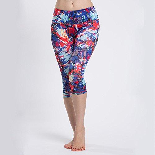 Donna sport corsa super elastico aderente corto pantaloni di yoga, 4, S