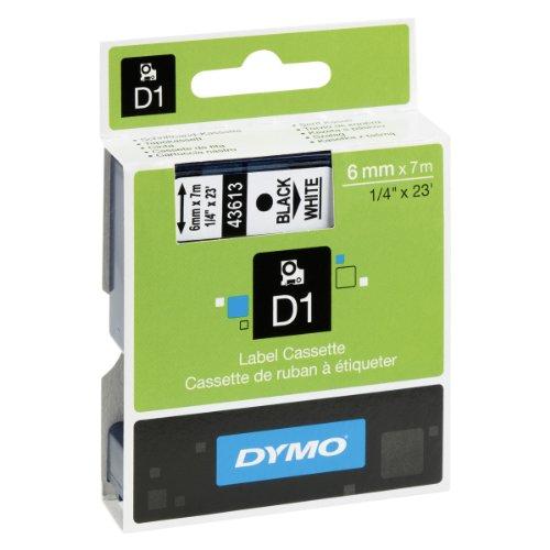 Preisvergleich Produktbild Dymo S0720780 D1-Etiketten (Selbstklebend, für den Drucker LabelManager, 6 mm x 7 m Rolle) schwarz/weiß