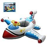 Anello di Nuotata di Sicurezza Gonfiabile del Bambino del Cigno Bianco, Giocattoli di Galleggiamento del Bagno della Barca di Sedile, Giocattoli di Stagno del Gioco di Estate 0-3 Anni (Bianco)