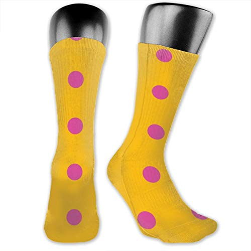 Polka Dot Spots Men's & Womens Athletic Full Crew Socks Running Gym Compression Foot