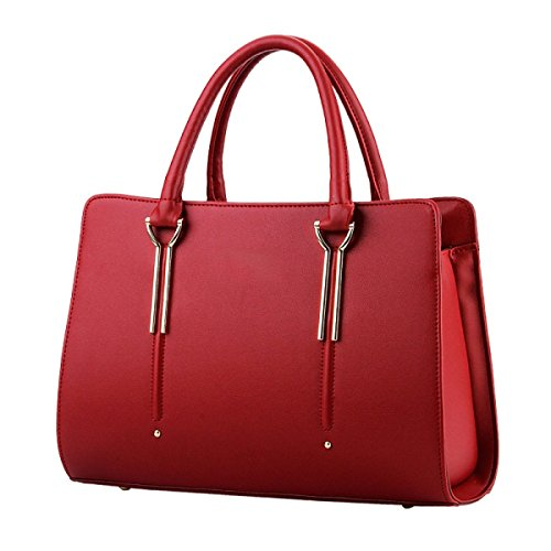 FZHLY Borsa A Tracolla Femminile Nuovo Sweet Lady Stereotipi Fashion Messenger,Rose WineRed