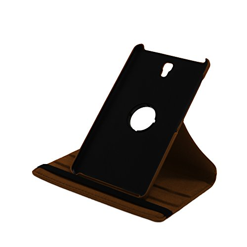 Drehbare Hülle mit Standfunktion für Samsung Galaxy Tab S 8.4 in BRAUN mit automatischer Sleep- und Wake-Up-Funktion [passend für Modell SM-T700, SM-T705]
