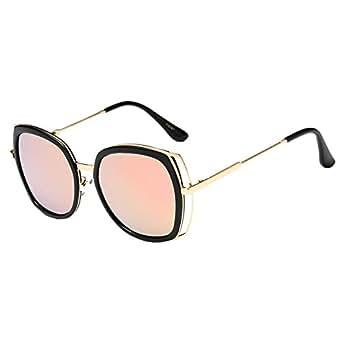 Women Girl Outdoor Large Frame UV400 Oval Sunglasses