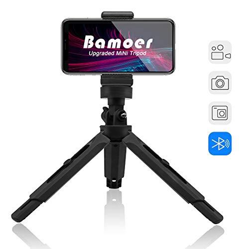 Bamoer Treppiedi Cellulare, cavalletto per iPhone Flessibile, Treppiedi Fotocamera Bluetooth Universale per Smartphone/Fotocamera per iPhoneX/6s/6sPlus,Samsung Note8/S8,Treppiedi Fotocamera per GoPro